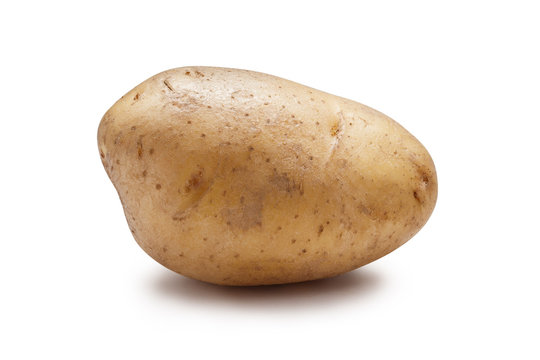 Young potato isolated on white background