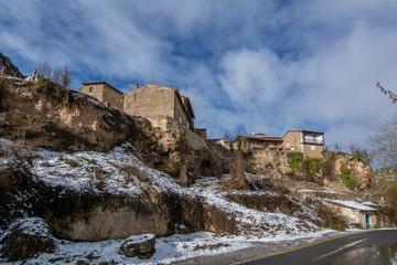 typical House of Orbaneja del Castillo, Burgos, Spain