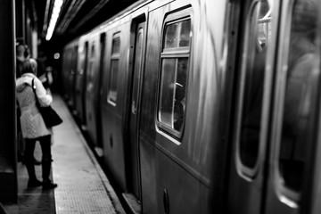 New York subway background
