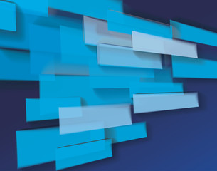 Abstract bright blue glass bricks composition, futuristic grid background, vector.