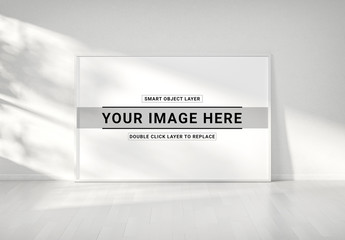 White Framed Print Mockup