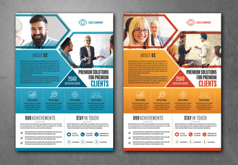 Business Flyer Layout with Photo Placeholders