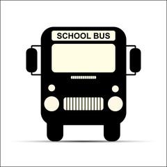 School bus to transport children to school, flat pattern