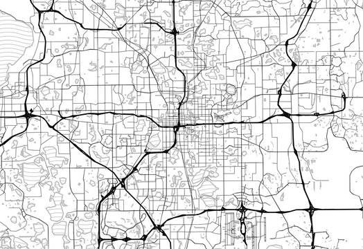Area map of Orlando, United States