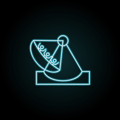Amusement park, Viking boat ride icon in neon style. Simple thin line, outline vector of Amusement set icons for UI and UX, website or mobile application