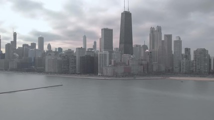 Fototapete - Chicago downtown skyline buildings aerial