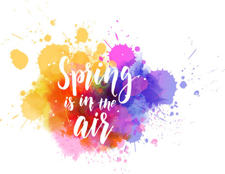 Spring is in the air - modern calligraphy lettering