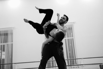 Contact improvisation dance duet