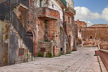 Grottole, Matera, Basilicata, Italy: ancient alley in the old town