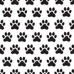 Paw prints seamless pattern