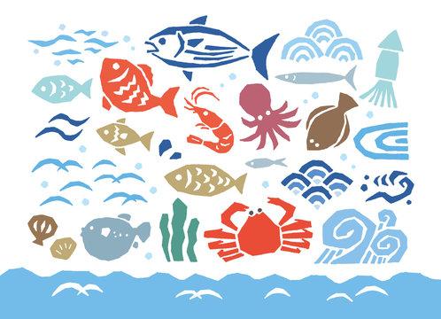 魚と波カラー