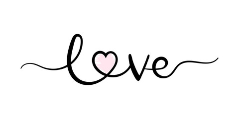 Love, handwriting lettering. Typography slogan for t shirt printing, slogan tees, fashion prints, posters, cards, stickers