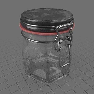 Small hexagon lock jar