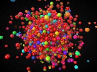 plastic balls for child pool. 3d illustration