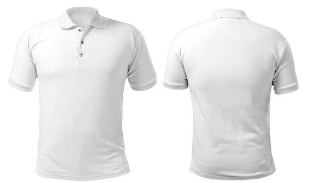 White Collared Shirt Design Template