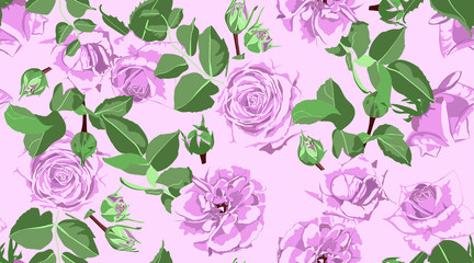 Roses Seamless Pattern for Wedding Decoration.