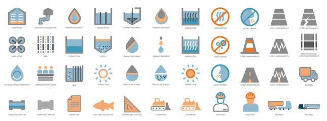 Water Treatment Icons