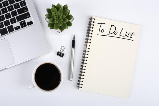To Do List On Office Desktop