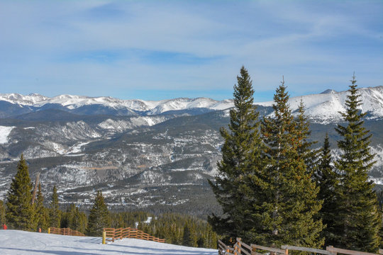 View of the Rocky Mountains in Colorado.