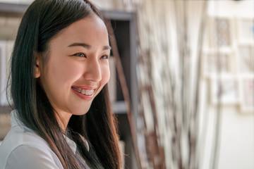 portrait of asian woman smiling