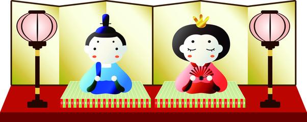 Gorgeous Gradation Japanese cute Hina dolls