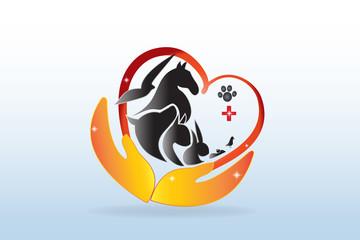 Logo Domestic pets veterinary business card