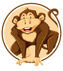 Monkey in circle template