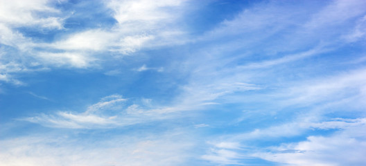 Panorama blue sky with clouds. nature background