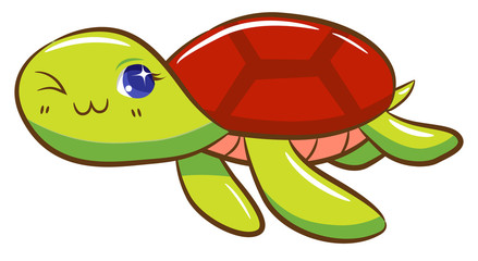 Turtle tried cartoon