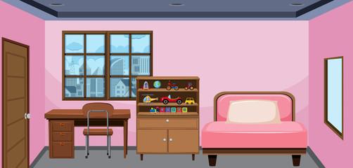 Interior design of bedroom