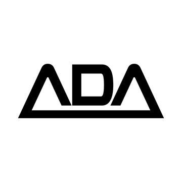 letter ADA vector logo.