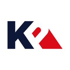 Obraz letter K and P vector logo - fototapety do salonu