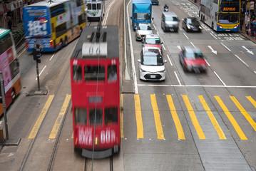 Public transport in Hong Kong : tram, bus, taxi 香港の公共交通機関(トラム、バス、タクシー)