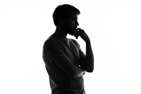 silhouette  man shadow