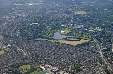 Wimbledon, South London - aerial view