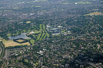 Aerial view of All England Lawn Tennis Club, Wimbledon