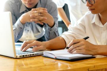 group meeting in the room  , teamwork
