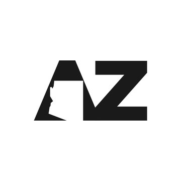 letter AZ. Arizona vector logo.