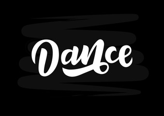 Dance  hand drawn lettering