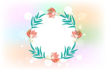 Floral decoration watercolor flowers logo vector image