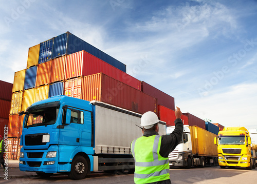 freight forwarding manager,worker, at container terminal