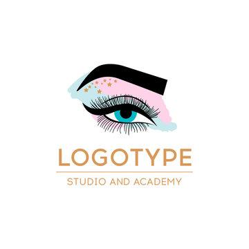 Luxury Beauty Eye Lashes Logo. Eyelash extension logo. Vector illustration in a modern style