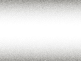 Halftone vector background. Gradient vignette frame. Monochrome pattern. Abstract geometric dots background. Pop Art black white texture circles. Design for presentation, banner, flyer, business cards