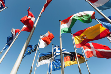 Flaggen international - fototapety na wymiar