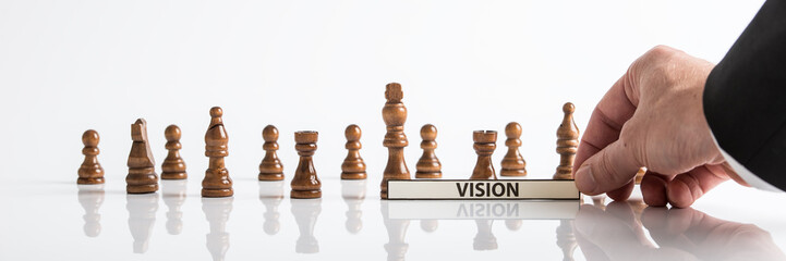 Wide view image of business vision