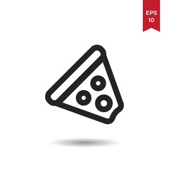 Pizza vector icon