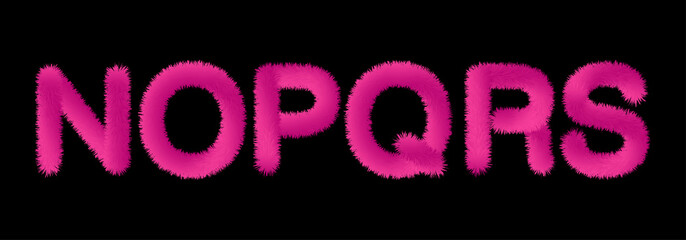Valentine fluffy soft fur pink letters