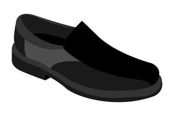 Zapato de color negro. Wall mural
