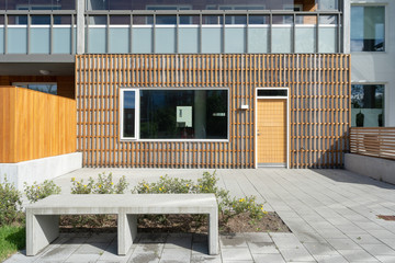 Photo of new modern construction home exterior Fototapete