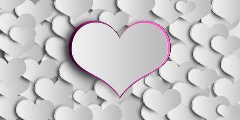 Valentine's day concept, graphic design